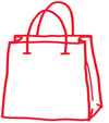 Doodle of a shopping bag
