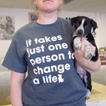 Click here for more information about Change a Life T-shirt